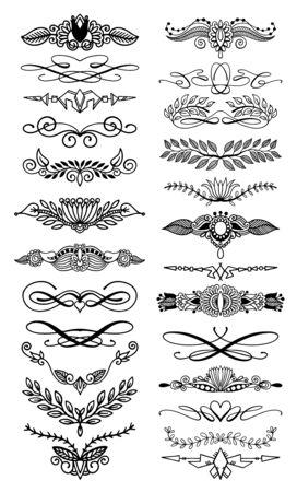 doodle hand drawing floral page divider Illustration