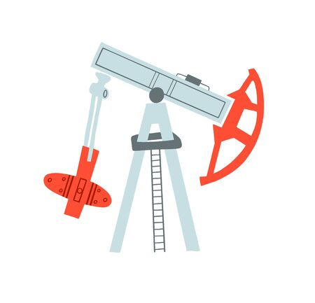 oil production - pump and refining oil factory equipment, vector illustration