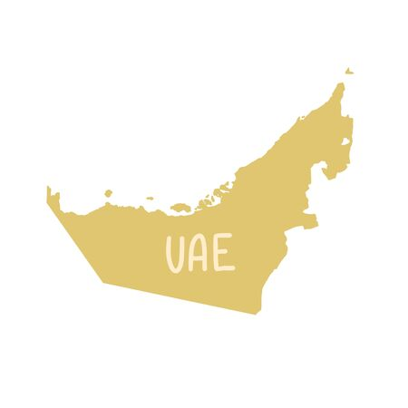 United Arab Emirates map in flat hand drawing style 일러스트