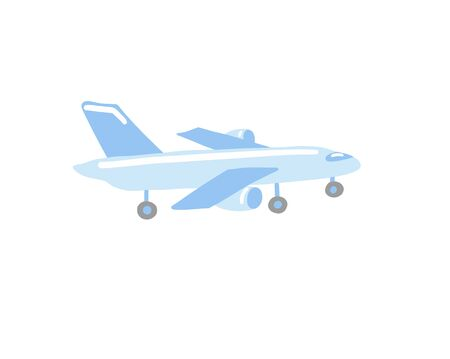 doodle flat vector icon illustration of airplane