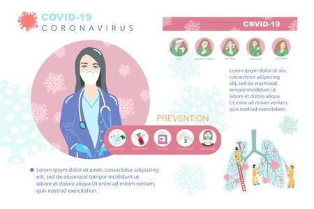 coronavirus covid-19 prevention poster, stop dangerous virus quarantine concept