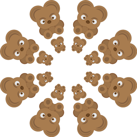 Vector pattern with bear cubs.The animation image for broad application.Vector illustration. Illustration