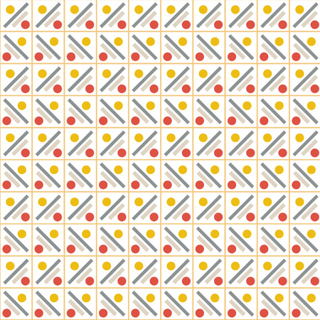 Vector pattern - colourful seamless geometrical background. Contains - rectangle, circle. Possibility of change of your color. You can apply it in the wide range of use.Vector illustration.