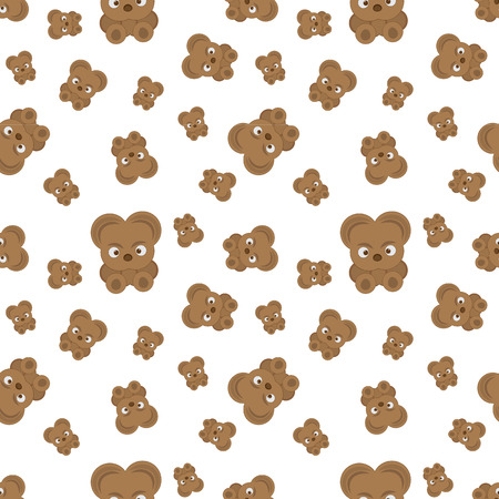 children silhouettes: Vector pattern with bear cubs.The animation image for broad application.Vector illustration. Illustration