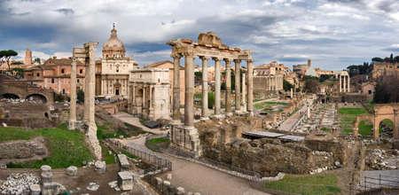 severus: Foro Roamano, Roma, Italy Stock Photo