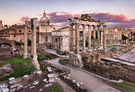 Foro Roamano, Roma, Italy Stock Photo