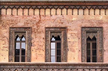 Windows in Mantova, Italy Stock Photo - 3801427