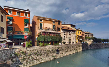 sirmione: View on Sirmione bank, Italy
