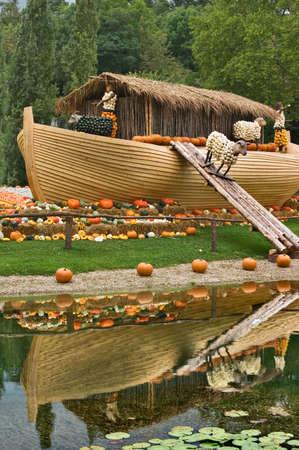Pumpkin sculpture, Ludwigsburg Palace garden, Germany