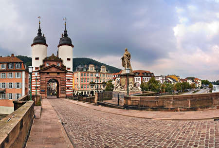 Alte Brucke (Old Bridge), Heidelberg, Germany Stock Photo