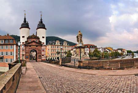 alte: Alte Brucke (Old Bridge), Heidelberg, Germany Stock Photo