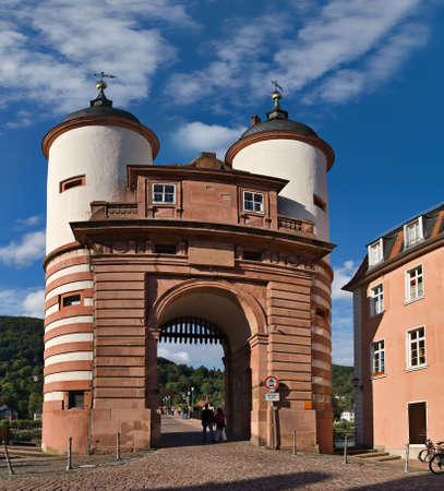 Alte Brucke (Old Bridge) gate, Heidelberg, Germany