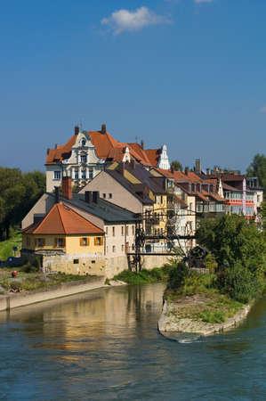 Danube banks in Regensburg, Germany photo