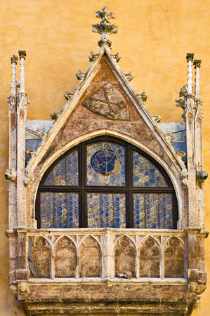 Old Town Hall oriel window, Regensburg, Germany Stock Photo - 3816931