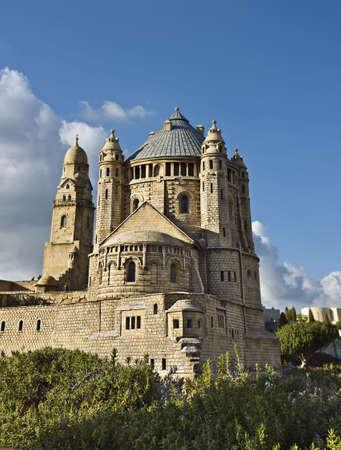 Model of the Dormizion abbey, Jerusalem, Israel Stock Photo - 3816978
