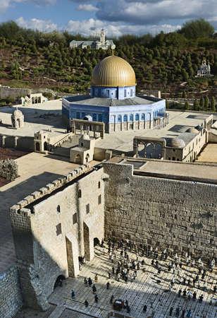 israel jerusalem: Model of the Temple Mount, Jerusalem, Israel
