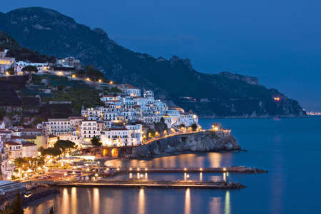 Night view of Amalfi, Italy