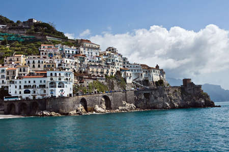 View of Amalfi, Costiera Amalfitana, Italy Stock Photo