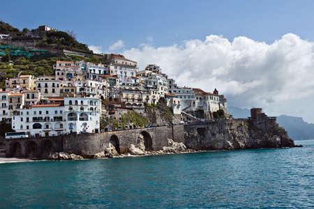 View of Amalfi, Costiera Amalfitana, Italy Stock Photo
