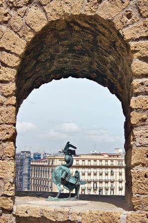 Bronze Cock in the Castel dell Ovo (Egg Castle), Naples, Italy Stock Photo - 3837150