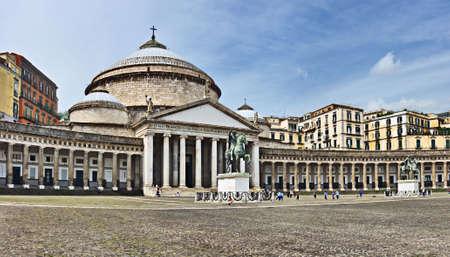 francesco: San Francesco di Paola church, Naples, Italy Stock Photo