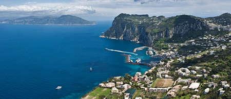 Panoramic view of Capri, Italy Stock Photo