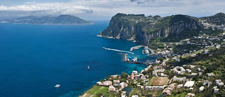 Panoramic view of Capri, Italy Stock Photo