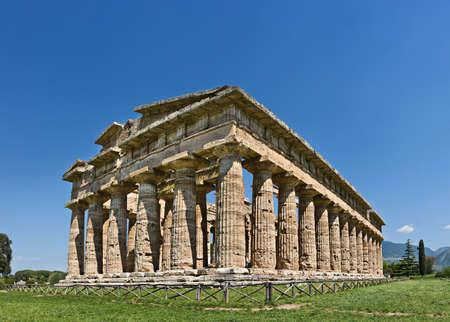 poseidon: Temple of Poseidon, Paestum, Italy Stock Photo