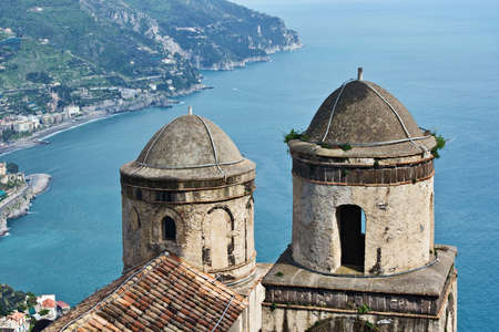 View of Amalfi coast from villa Rufolo, Ravello, Italy Stock Photo