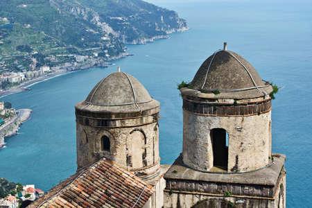 View of Amalfi coast from villa Rufolo, Ravello, Italy Stock Photo