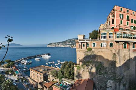 View of Marina Piccola, Sorrento, Italy Stock Photo