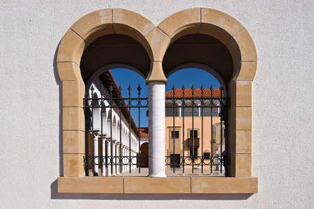 ralli: Ralli museum surrounding wall window, Caesarea, Israel