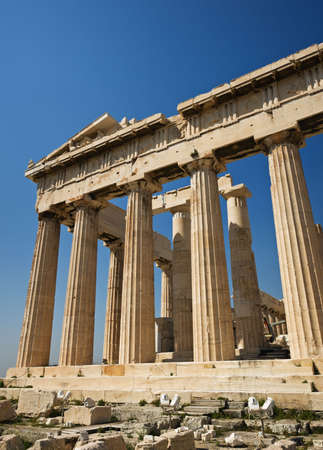 Parthenon on the Acropolis of Athens, Greece Stock Photo