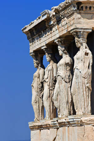 The Porch of the Caryatids, Erechtheum, Acropolis of Athens, Greece