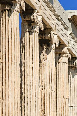Erechtheum columns, Acropolis of Athens, Greece