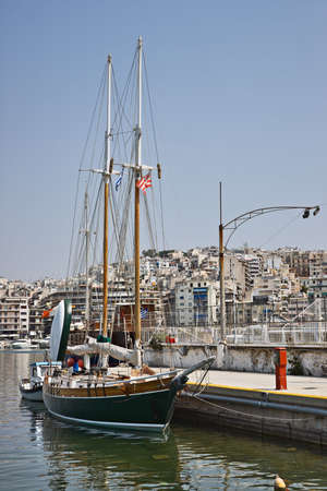 zea: Sail boat in Marina Zea, Piraeus, Greece