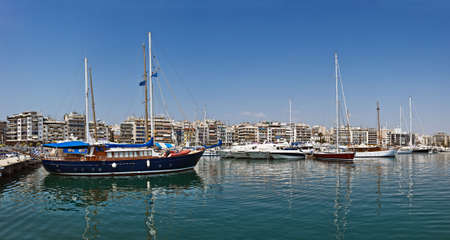Panoramic view of the Marina Zea, Piraeus, Greece