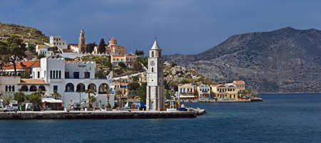 Panoramic view of Symi, Greece