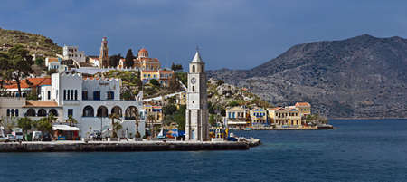 Panoramic view of Symi, Greece