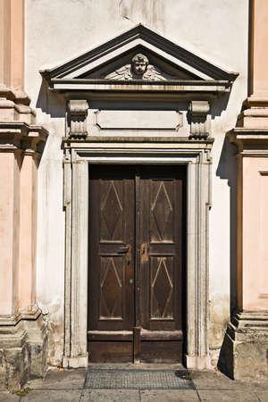 linz: Seminarkirche church door, Linz, Austria