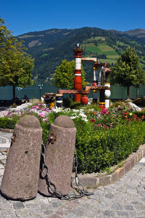 zell am see: Fountain Austria, Zell am See Stock Photo