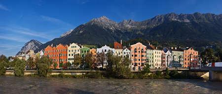 tyrol: Panoramic view of Innsbruck, Tyrol, Austria