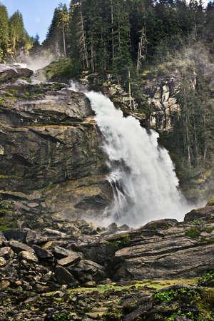 hohe tauern: Krimmler waterfall, Hohe Tauern National Park, Austria