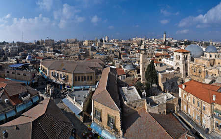 Panoramic view over Old City of Jerusalem, Israel Stock Photo - 6091238