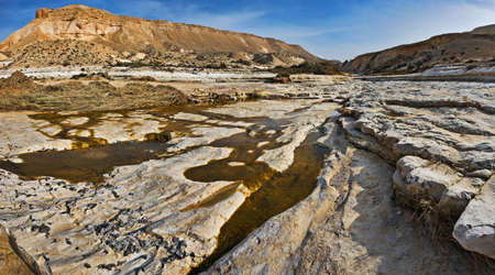 canyon negev: Stream in canyon, Negev desert, Israel