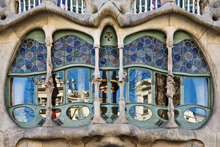 casa: Casa Batllo bay window, Barcelona, Catalonia, Spain
