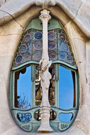 Casa Batllo window, Barcelona, Catalonia, Spain