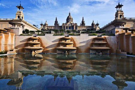 barcelona spain: Palau Nacional, Barcelona, Catalonia, Spain Stock Photo