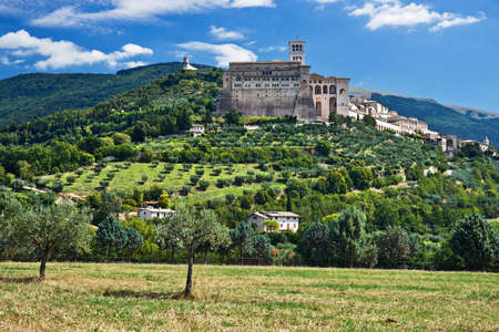 assisi: View of Assisi old city, Umbria, Italy Stock Photo