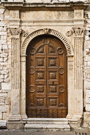 Torre del Popolo door, Assisi, Umbria, ItalyTorre del Popolo door, Assisi, Umbria, Italy photo